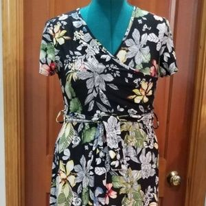 NEW 1X FLORAL ON BLACK BY RAGS & COUTURE
